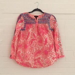 J.Crew embroidered top